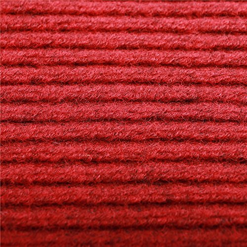 fani Heavy Duty Large Outdoor Indoor Entrance Doormat Red Waterproof Low Profile Entrance Rug Front Door Mat Patio Anti-skid Rubber Back, 80x120cm (Red)