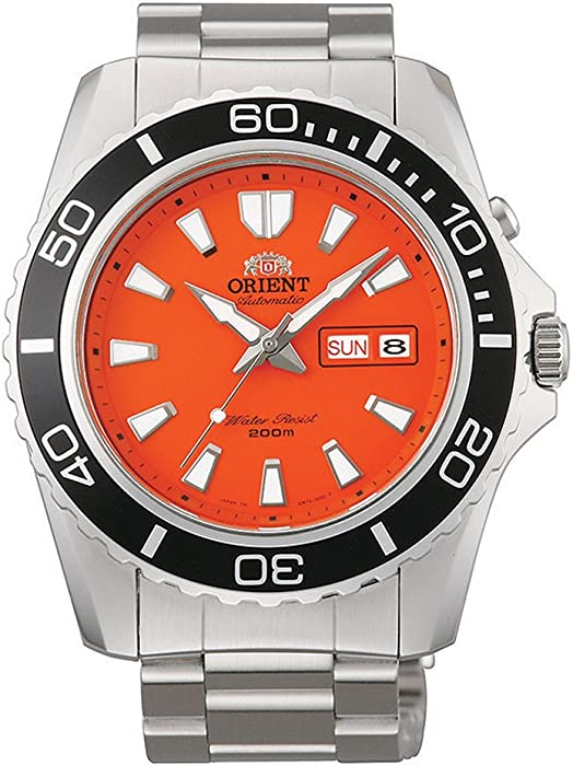 Orient – Reloj de pulsera analógico automático para hombre piel Naranja cem75001mv