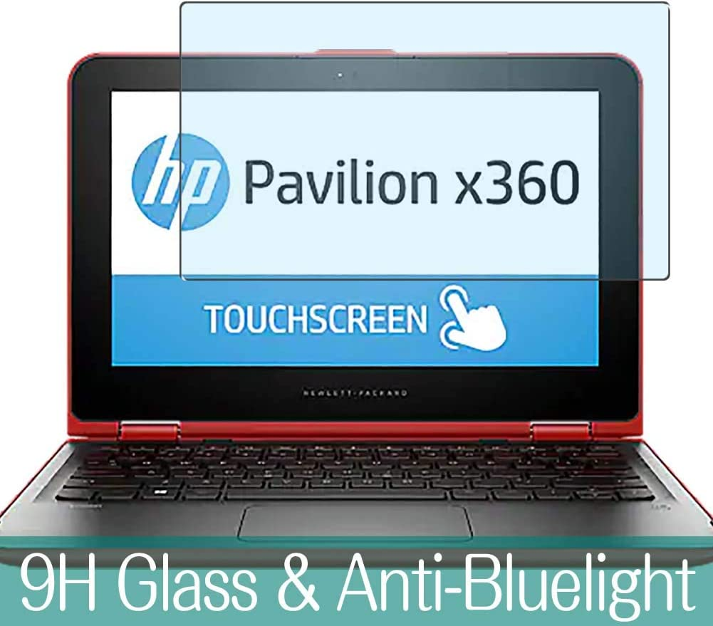 "Synvy Anti Blue Light Tempered Glass Screen Protector for HP Pavilion x360 11-k000 / k013cl / k023tu / k022tu / k059tu / k099nr / k064na / k035tu / k010tu / k027tu 11.6"" Visible Area"