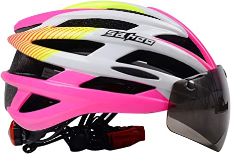 HYwot Lente Magnética Bicicleta Casco Bicicleta de Montaña ...
