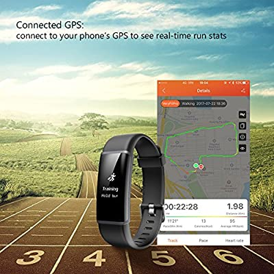 LETSCOM Fitness Tracker HR with Replacement Band, Activity Tracker Watch with Heart Rate Monitor, IP67 Waterproof Smart Wristband, Step Counter Pedometer Watch for Kids Women and Men