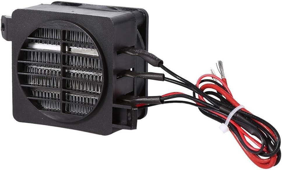 Calentador PTC Calentador de Aire, 100W 12V Temperatura Constante PTC Calentador de Ventilador eléctrico con Control automático para Calentadores, humidificadores, Aires acondicionados