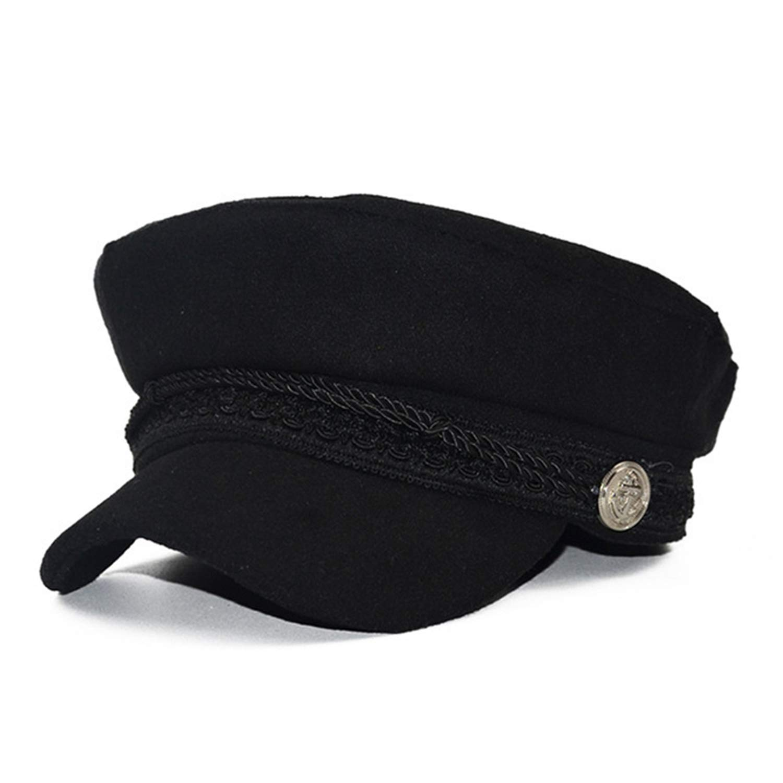 Spring New Vintage Hats Fashion Female Solid Color Military Casquette Hat Autumn Ladies Warm Octagonal Cap