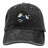 QUO FELAO Cool Jack Russell Unisex Dad Hat Baseball Cap Low Profile Cap Polo Style Adjustable Cotton Denim Cap Black