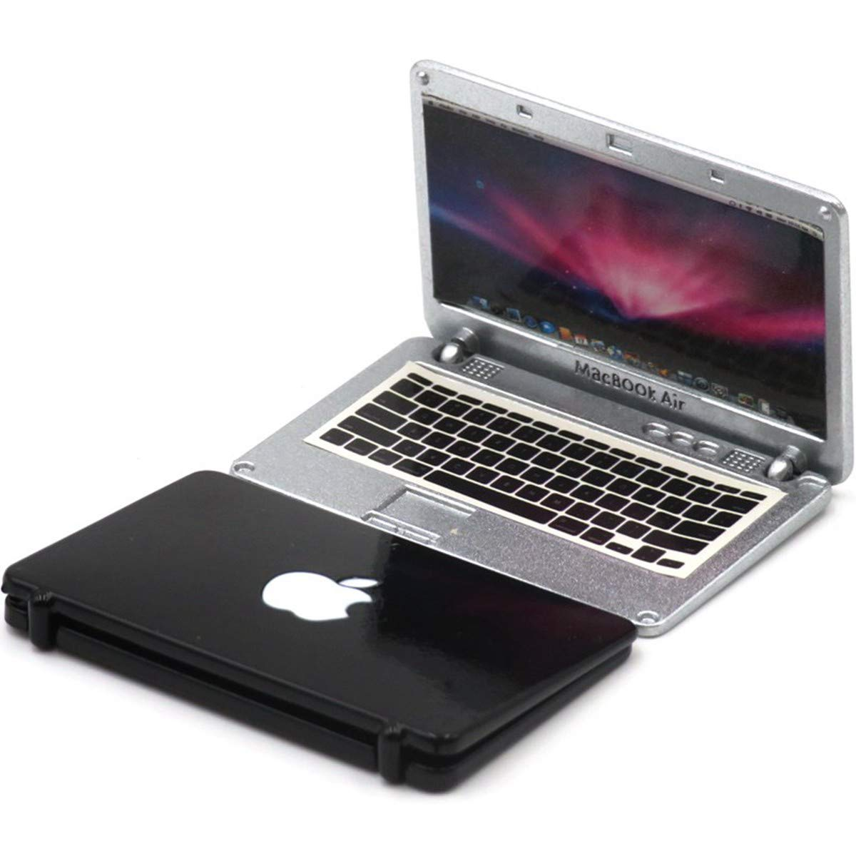 """1//6 Scale Notebook Computer Model Silver For 12/"""" Action Figure Scene Accessories"""