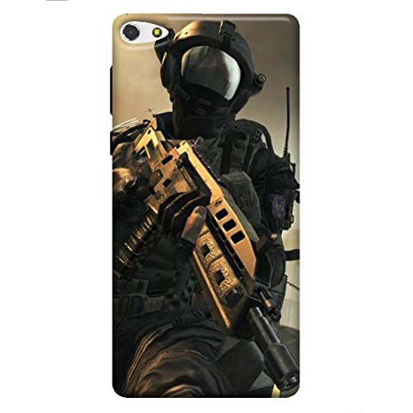 online store 2b9f5 531fd LYF Water F1S Printed Back Cover Army: Amazon.in: Electronics