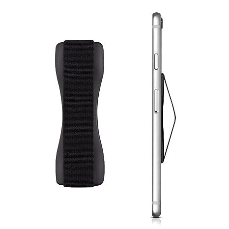 kwmobile Smartphone Fingerhalter Griff Halter - Selbstklebende Handy Fingerhalterung - Finger Halter für z. B. iPhone Samsung