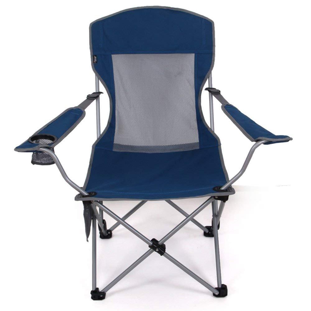 c-xkaアウトドアポータブル折りたたみ椅子釣り椅子ビーチ椅子2つ調整可能高椅子スケッチカジュアルLunch Breakラウンジチェアブルー、グリーン  ブルー B07DZMJBYR