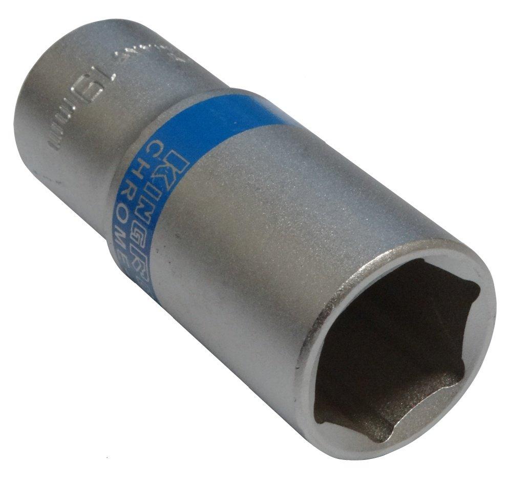 Aerzetix: Douille de vissage 3/8 6 pans 19mm longue profonde rallongée haute qualité professionnelle en acier CrV 3800946187127