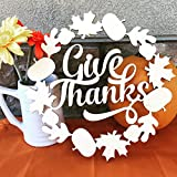"""Thanksgiving Décor """"Give Thanks"""" 11.5"""" x 11.5"""" Wood Cut Out"""