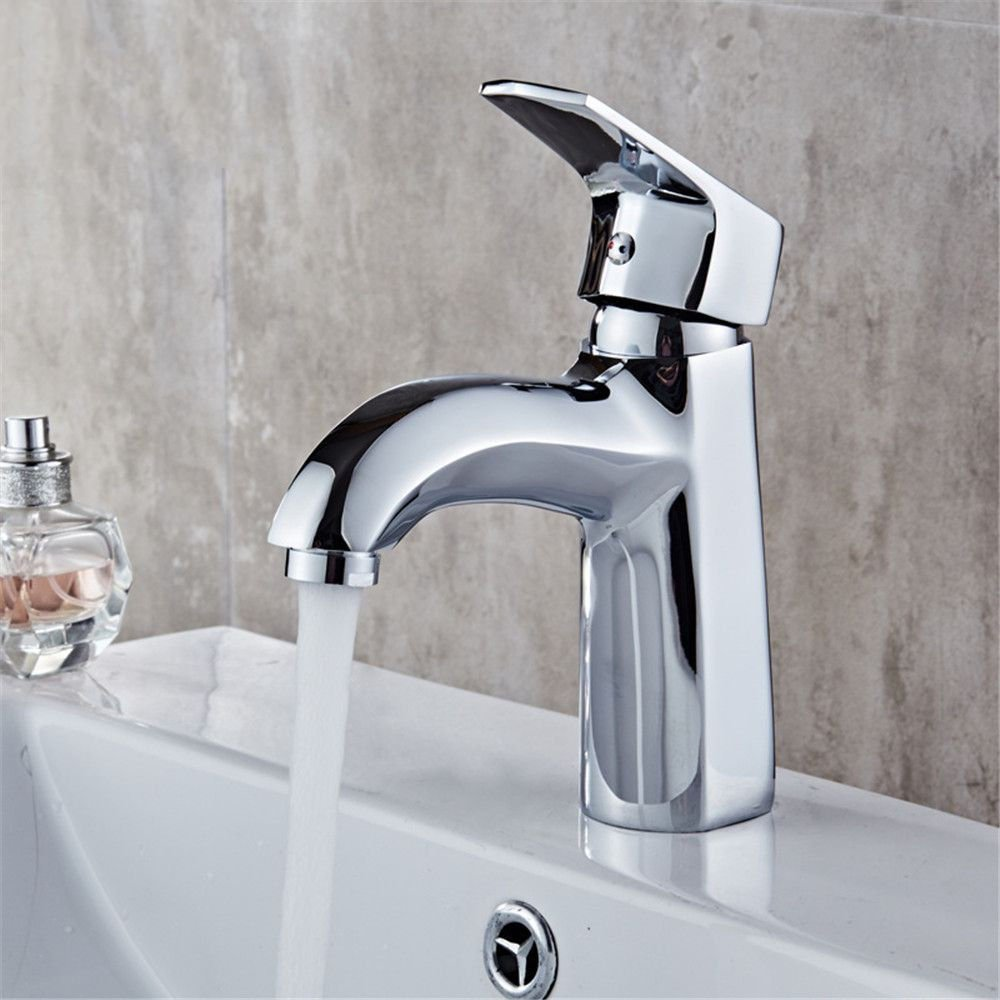 Lalaky Taps Faucet Kitchen Mixer Sink Waterfall Bathroom Mixer Basin Mixer Tap for Kitchen Bathroom and Washroom Hot and Cold Single-Connected Quick Opening