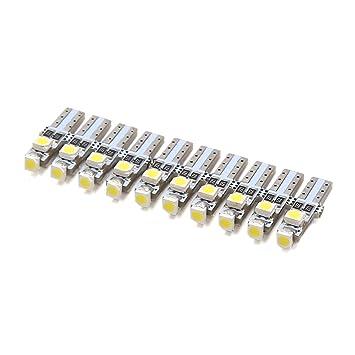 sourcing map 10pcs 12V T5 Bombillas LED Blanco 3-1206-SMD Luces de Panel Tablero de Coche Placa de Circuito: Amazon.es: Coche y moto
