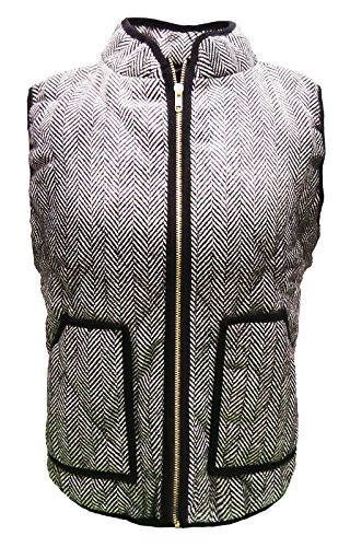 W&C Women's Zipper Closure Standing Collar Slant Pockets Quilted Padded Vest (Tag M, - Usps Tracking And Ship Click