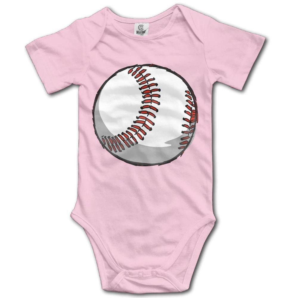 Jaylon Baby Climbing Clothes Romper Baseball Ball Pattern Infant Playsuit Bodysuit Creeper Onesies Pink
