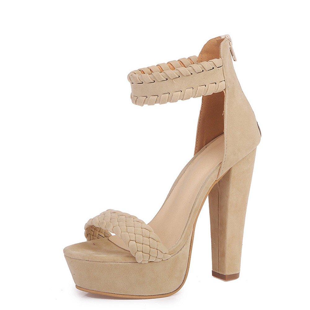 Zapatos Mujer ZARLLE Zapatos De Tacón Mujer Primavera Verano Sandalias Fiesta Super High Heels Plataforma De Tacón Alto Sandalias De Tacón Grueso Zapatos Romanos