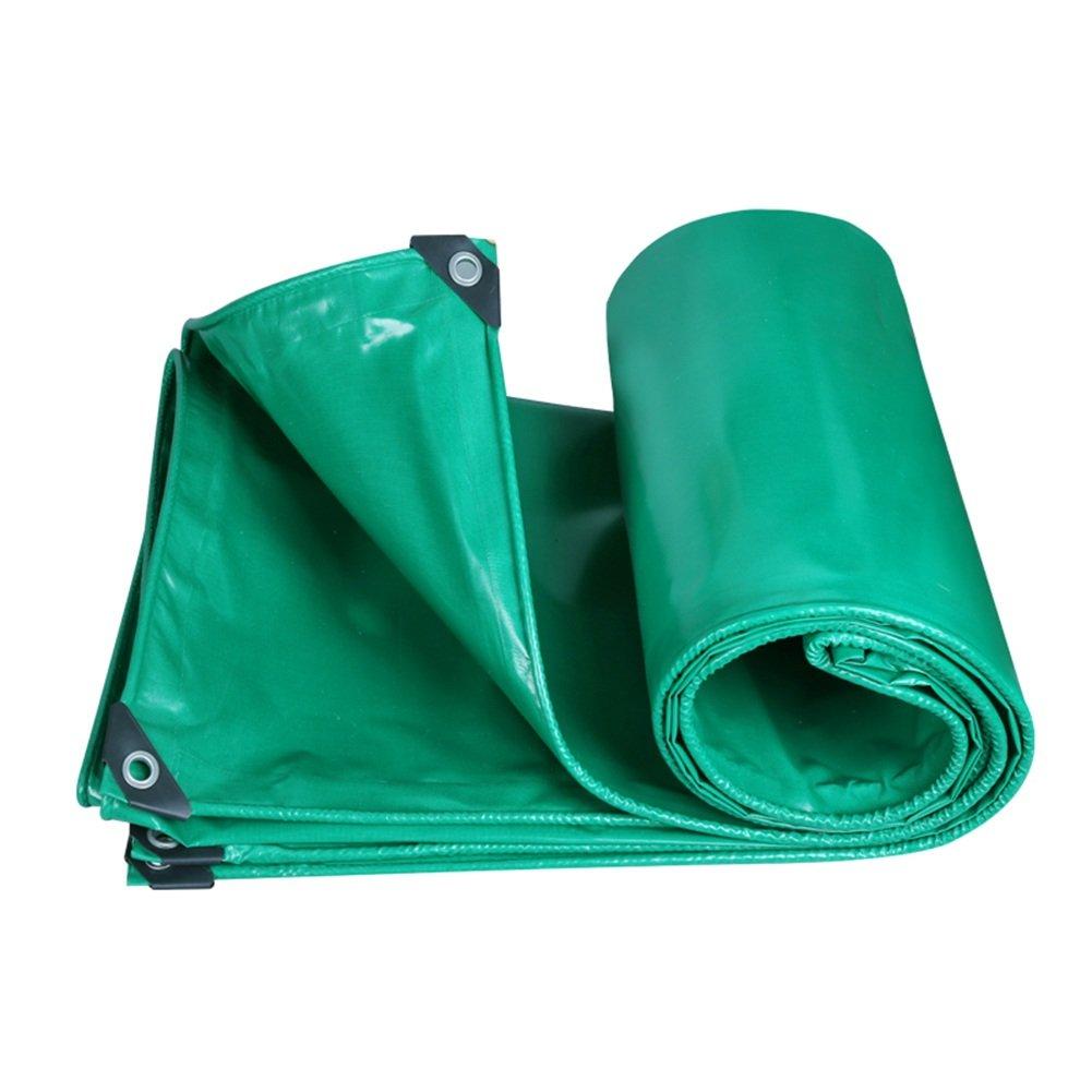 CHAOXIANG オーニング 厚い 両面 防水 日焼け止め 耐高温性 耐寒性 耐摩耗性 耐食性 防塵の PVC、 3色、 350g/m 2、 厚さ 0.35mm、 21サイズ (色 : 緑, サイズ さいず : 5×6m) B07DBPFMWC 5×6m|緑 緑 5×6m