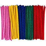 eBoot Pipe Cleaners Chenille Stem for Arts and Crafts (6 x 300 mm, Assorted colors)