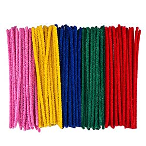 eBoot 100 Pcs Pipe Cleaners Chenille Stem 6 x 300 mm, Assorted Colors