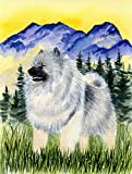 Caroline's Treasures SS8323CHF Keeshond Flag Canvas, Large, Multicolor For Sale