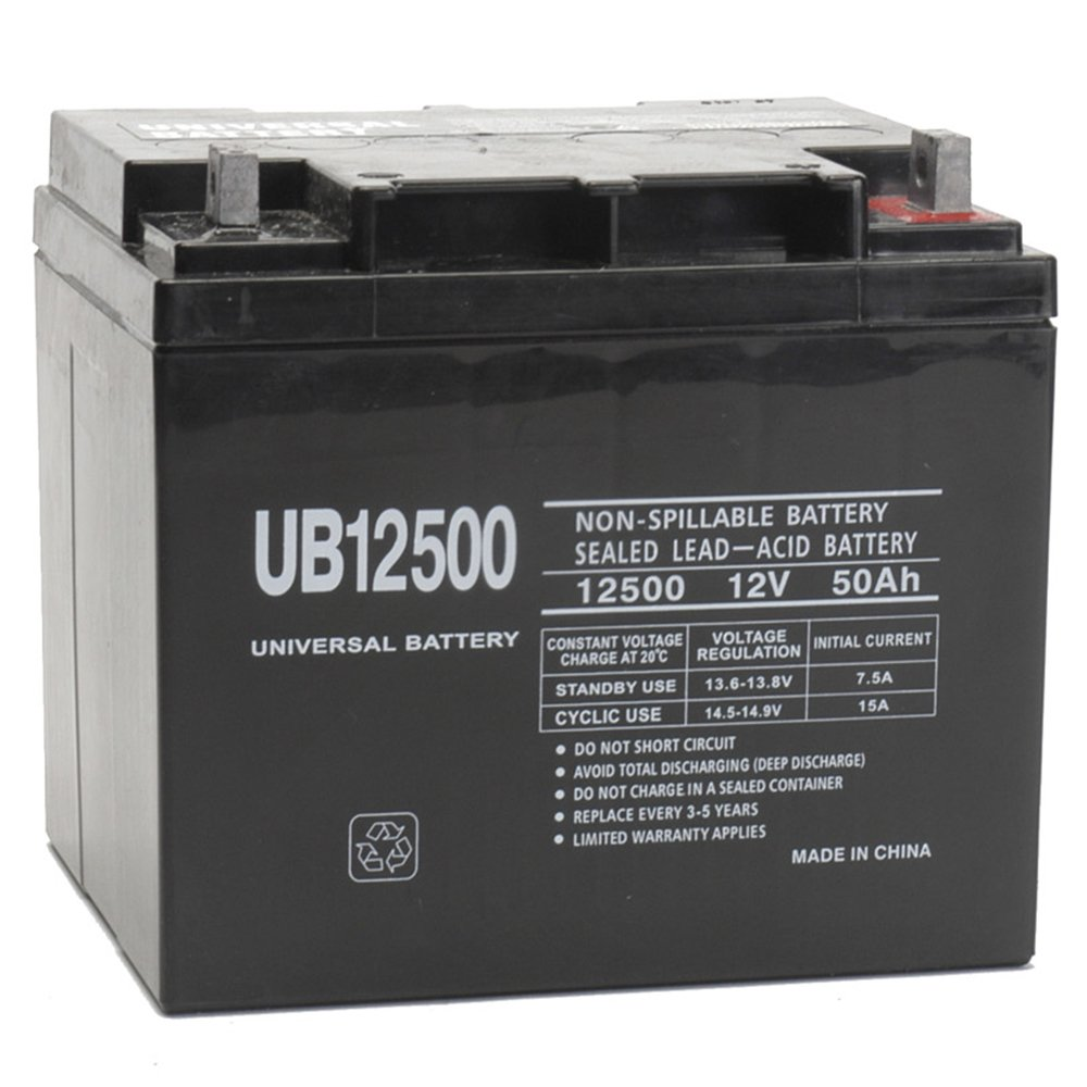 12V 50Ah PowerChair Battery Replaces 45ah Ritar RA12-45
