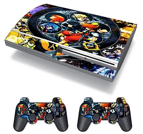 EBTY-Dreams Inc. - Sony Playstation 3 (PS3 FAT) - Kingdom Hearts Video Game Sora Kairi Riku Vinyl Skin Sticker Decal Protector