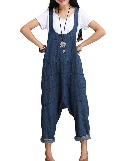 Saoye Fashion Pantalones Vaqueros De Las Mujeres Baggy ...