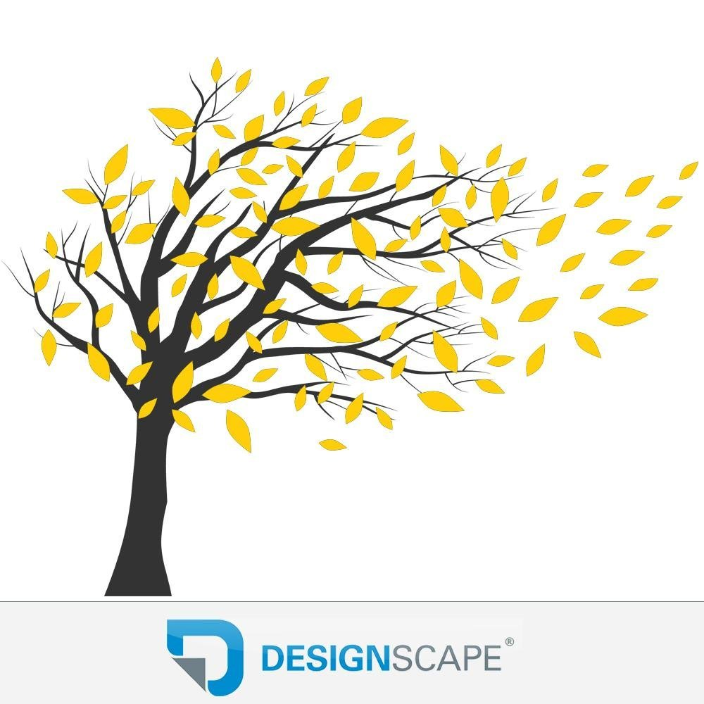 DESIGNSCAPE® Wandtattoo Baum im Wind - Zweifarbiger Wandtattoo Baum Baum Baum 180 x 170 cm (Breite x Höhe) Farbe 1  lindgrün DW804070-L-F16 B01ELE05EQ Wandtattoos & Wandbilder 9cb4a1