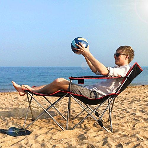 (ALLCAMP Folding Camping Chairs Beach Outdoor Patio Folding Recliner Portable Camping Sleeping, Comfortable, (Long 56