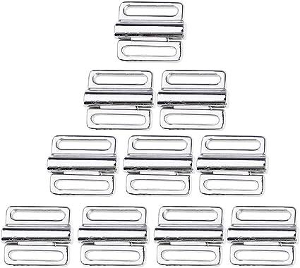 10 Paar Metall BH Clip Bademode Klicker Bikini Vorne Verschluss Schnalle