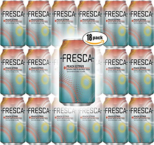 Fresca Peach Citrus Soda, 12 oz Can (Pack of 18, Total of 216 Oz)