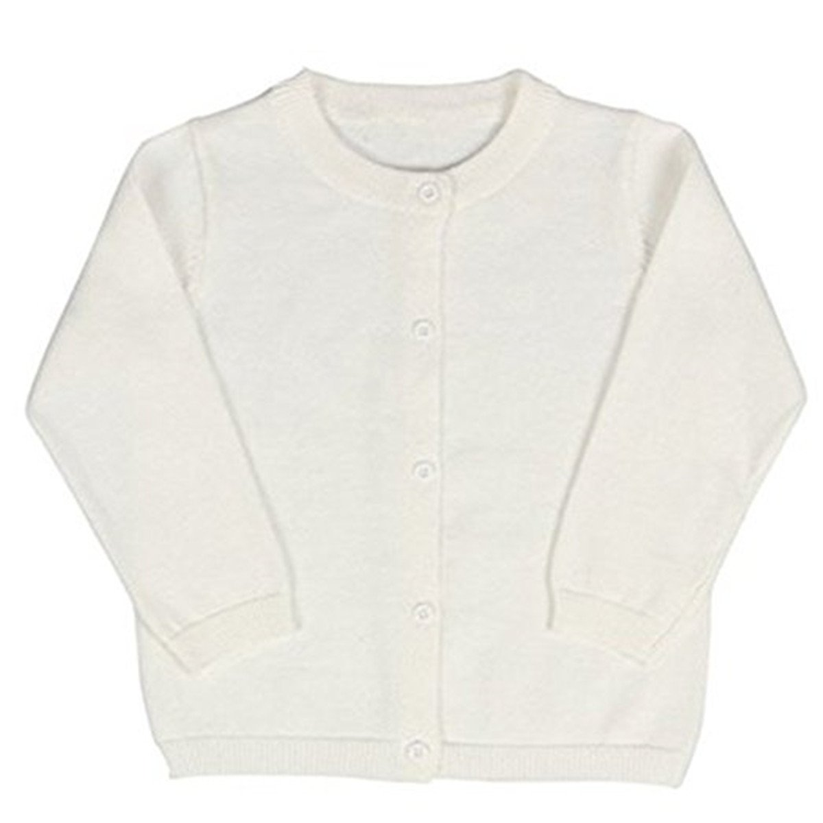 JELEUON Little Girls Cute Crew Neck Button-Down Solid Fine Knit Cardigan Sweaters 4-5 Years