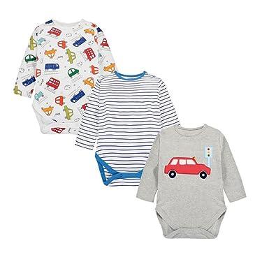 a1455f39058528 Casa 3er Set Baby Strampler Neugeborenen Strampelanzug Jungen 100% Baumwolle  Baby Overall Mädchen Langarm Bodysuit