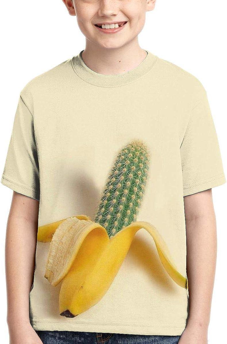 YudoHong Camisetas para niños Cactus Banana Poliéster Activo ...