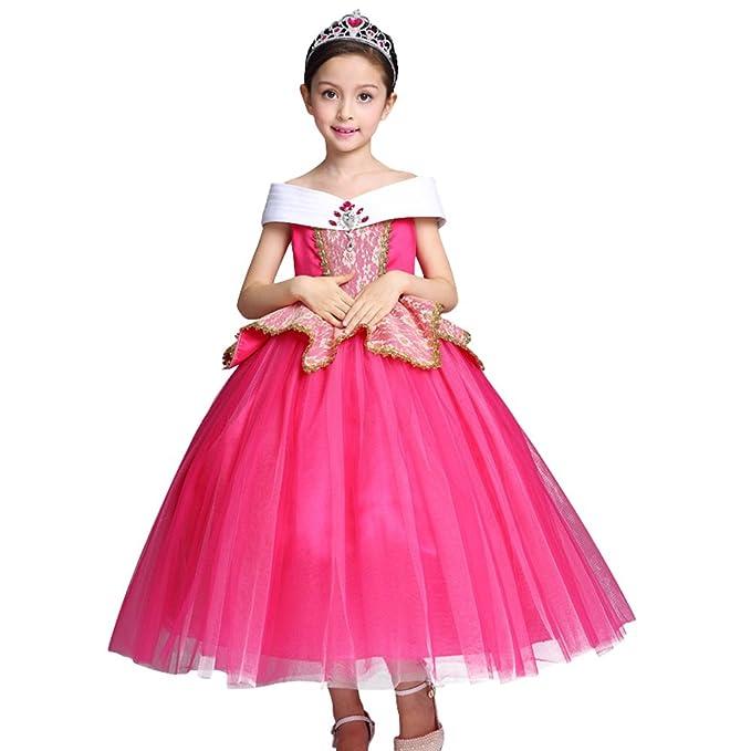 OBEEII Vestidos Niña Princesa Disfraz Cosplay Traje Largo para ...