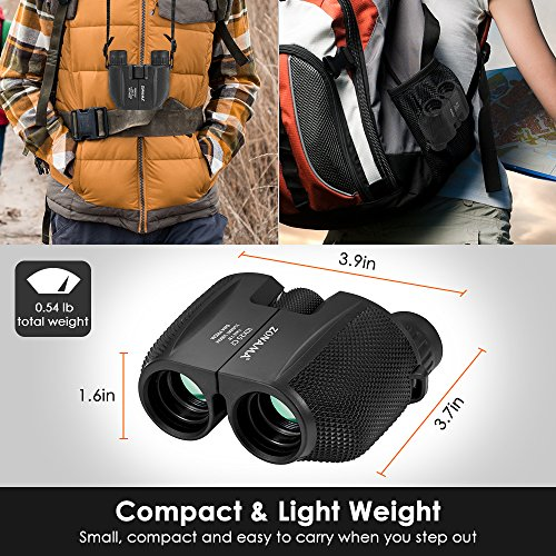Birding Binoculars , Compact High Power 10X25 Kids Binoculars Mini Shockproof Lightweight Telescope For Bird Watching , Hiking , Hunting , Traveling and Sporting Games , Best Gifts for Kids / Adults by ZONAMA (Image #4)