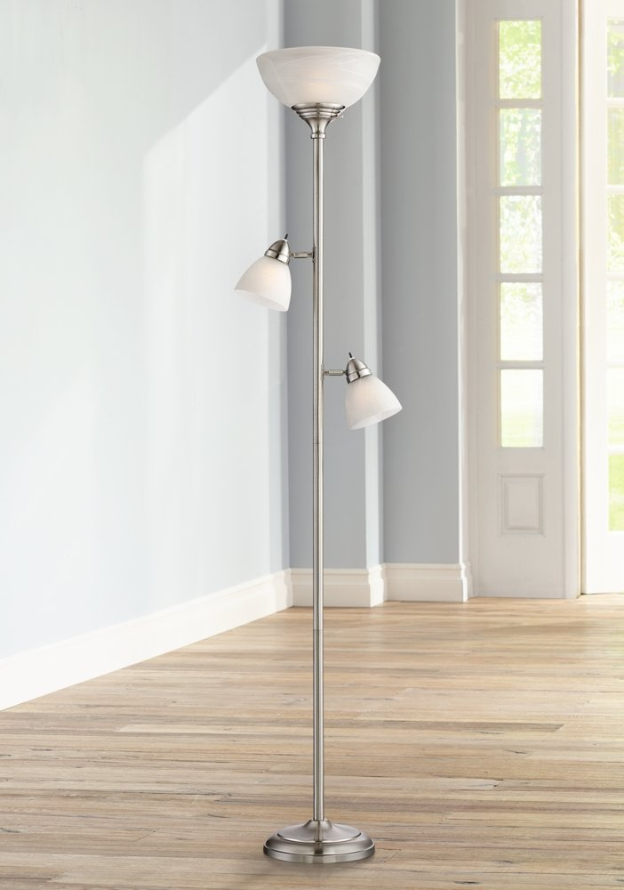 Ellery brushed steel tree torchiere 3 light floor lamp amazon aloadofball Gallery