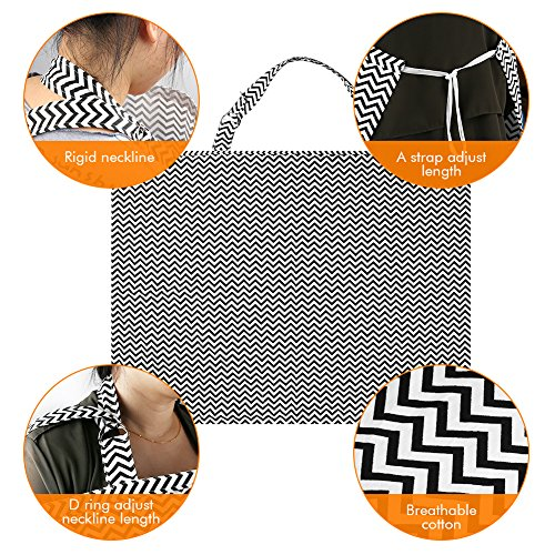Accmor Nursing Cover Breastfeeding Cover, Multi-use Breathable Cotton Flax Breastfeeding Cover Ups Nursing Apron, Full Coverage, Rigid Neckline, Covers Up Newborns in Public by accmor (Image #2)