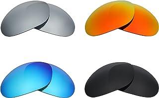 Mry 4paires polarisées Verres de rechange pour Wiley X XL-1Advanced Sunglasses-stealth Noir/rouge Feu/ICE Bleu/argent Titane Mry Lenses