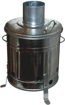 Incinerador de jardín mini, recipiente para quemar galvanizado pequeño, 15 litros, para madera, hojas, papel, hecho en Reino Unido por Keto Plastics: Amazon.es: Bricolaje y herramientas