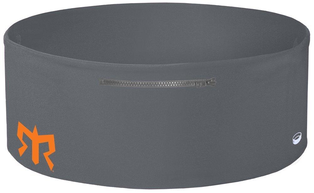 Ragnar Edition Wearable Fitness Waistband Travel & Sports Storage Waist Belt (Grey w/Grey Zipper, XS/S)