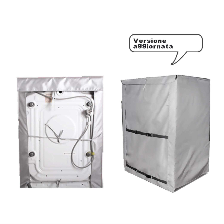 Mr.You Funda Lavadora Carga Frontal,Cubierta Lavadora reciclable para lavadoras de Carga Frontal Impermeable Profundidad de 55~64cm, 5 A/ños de Vida de Servicio