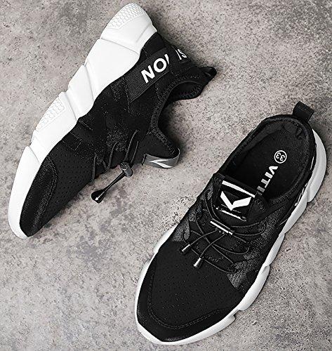 Scarpe da Elaphurus Ginnastica Sneakers Sport 1 Ragazza Fitness nero Donna Respirabile Outdoor Mesh OCC5wxfqWE