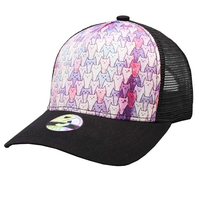 3f27bf886541e Odelia Walter Unisex Cute Cat Dad Hat Mesh Trucker Hats Baseball Cap ...