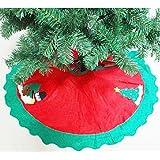 "Zogin 90cm 35"" Chiristmas Tree Skirt Base Cover Xmas Tree Decor Apron Wrap - Snowman Decoration (Red/Green)"