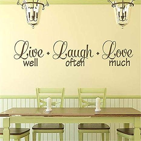 wandaufkleber spr Live gut lachen oft Liebe viel ...