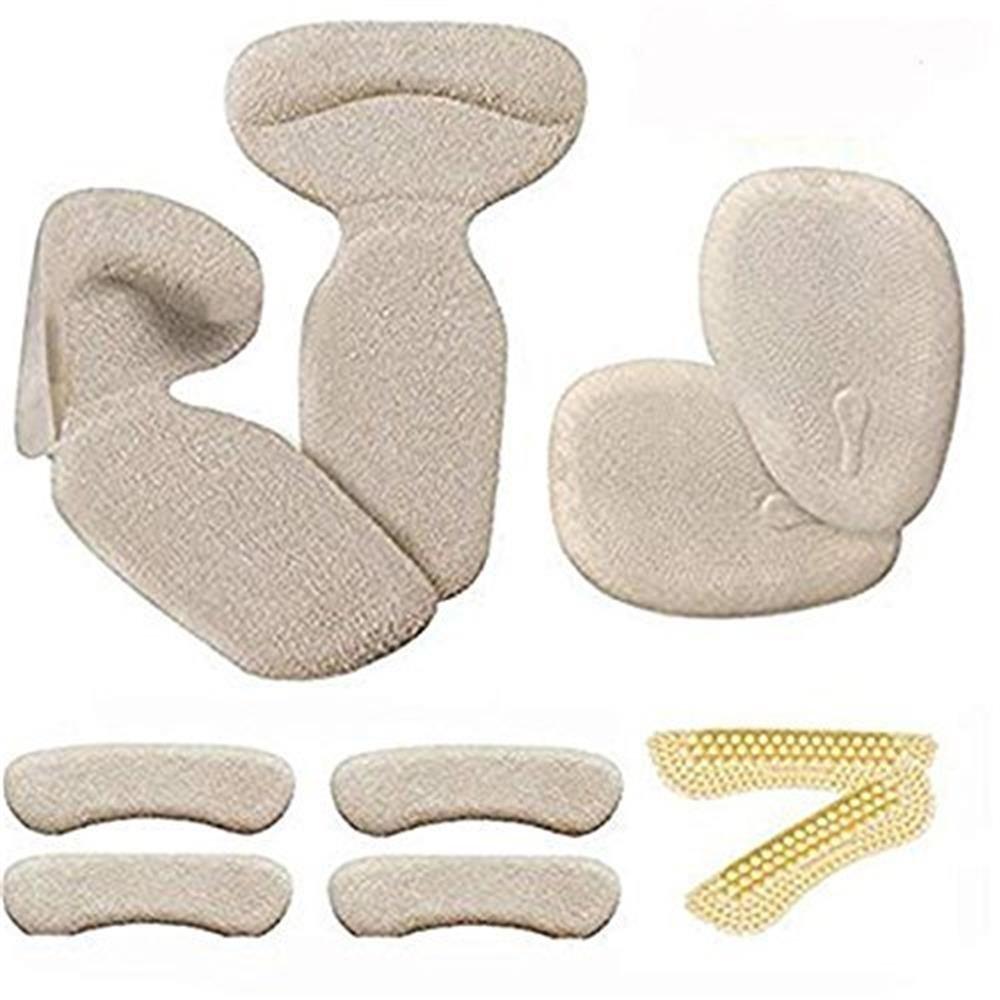Coussinets talons hauts (10 pièces) - Coussinets talon inserts Protège-pieds et chaussures améliorés, inserts talons hauts, talonnettes, coussin antidérapant, semelles intérieures (Beige) DESERVED