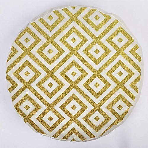 YOUWENll Round Decorative Throw Pillow Floor Meditation Cushion Seating/Sand Like Geometric Rectangular with Inner Details Lines Stripes Image Decorative/for Home Decoration 17