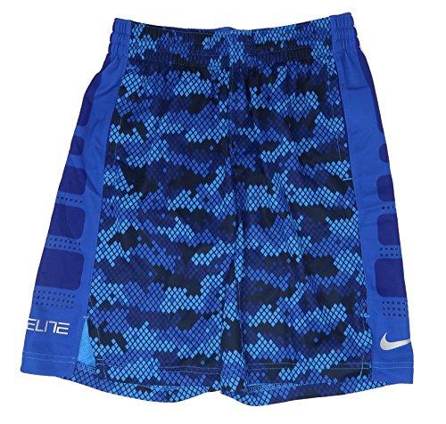 Nike Boys Elite Striped Short Camouflage Camo Blue - Medium