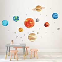 OFISSON Large Planets Sun Earth and so on (32 pcs) Solar System Wall Sticker Peel and Stick Decal, Baby Room Wall Decor…