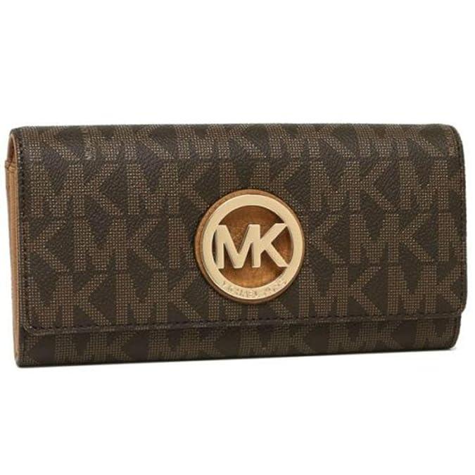bca96f1c064017 Amazon.com: Michael Kors Fulton Flap Signature MK PVC Clutch Wallet Black:  Shoes